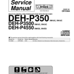 Pioneer Deh P3500 Wiring Diagram For Small Utility Trailer Manuals Service Manual