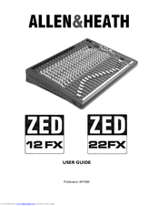 Allen & Heath ZED 22 FX Manuals