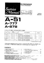 Pioneer A-878 Manuals
