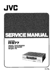 Jvc R-S77 Manuals