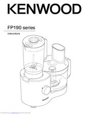 Kenwood FP190 series Manuals