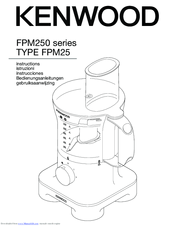 Kenwood FPM250 series Manuals