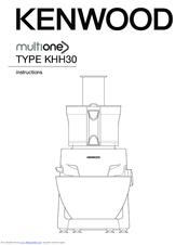 Kenwood Multione KHH30 Manuals