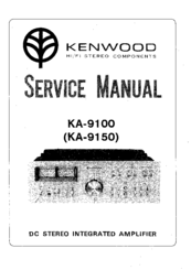 Kenwood KA-9100 Manuals