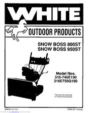 White Snow boss 950ST Manuals