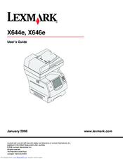 Lexmark X646e MFP Manuals