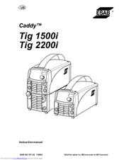 Esab Caddy Tig 2200i AC/DC Manuals