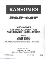 Ransomes Bob-Cat M21-4BZ Manuals