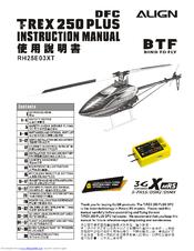 Align T-REX 250 Plus DFC Manuals