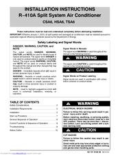 Tempstar TSA6 Manuals