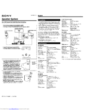 Sony SS-CR350 Manuals