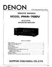 Denon PMA-700V Manuals