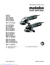 Metabo WE 15-125 Quick Manuals