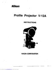 Nikon V-12A Manuals