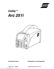 Esab Caddy Arc 251i Manuals