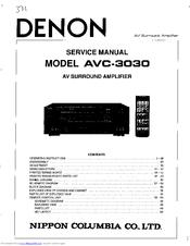 Denon AVC-3030 Manuals