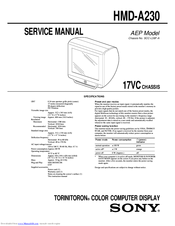 Sony Trinitron HMD-A230 Manuals