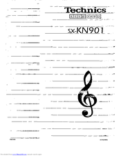 Technics SX-KN901 Manuals