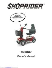Shoprider TE-889SLF Manuals