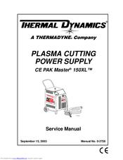 Thermal Dynamics PAK Master 150XL Manuals