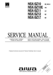 Aiwa NSX-SZ10E Manuals