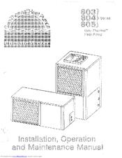 Climatemaster 804 series Manuals