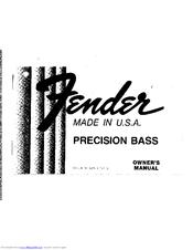 Fender Precision Bass Manuals