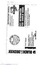 Black & Decker 7604 Manuals