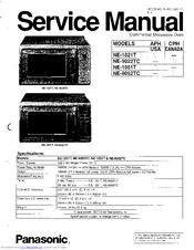Panasonic NE-1051T Manuals