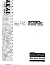 Akai EWI USB Manuals
