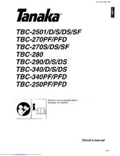 Tanaka TBC-340/D Manuals