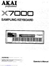 Akai X7000 Manuals