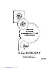 Hammarlund HQ-180 Series Manuals