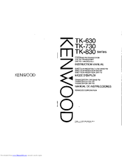 Kenwood TK-730 series Manuals