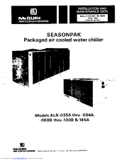 Mcquay Seasonpak ALR-060B Manuals