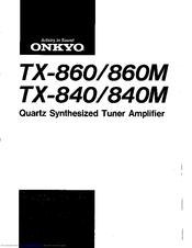 Onkyo TX-840 Manuals