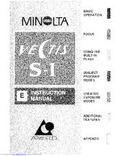 Minolta VECTIS S-1 Manuals