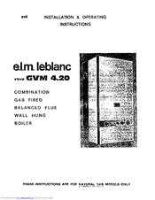 E.l.m. Leblanc GVM 4.20 Manuals