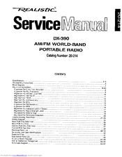 Realistic DX-390 Manuals