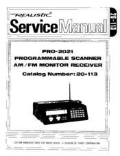 Realistic PRO-2021 Manuals