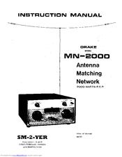 Drake MN-2000 Manuals