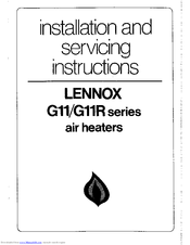 Lennox G11 series Manuals
