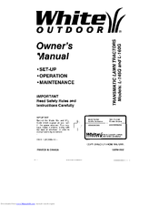 White Outdoor L-160G Manuals