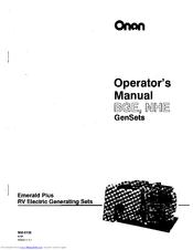 Onan Emerald Plus BGE Series Manuals
