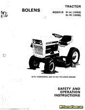 Bolens H-16 Manuals
