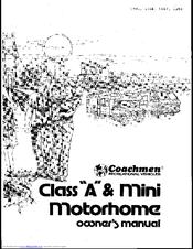 Coachmen Rv 1986 Class A Manuals