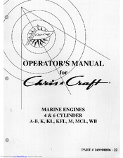 Chris-craft MCL Manuals