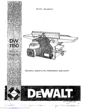 Dewalt DW 1150 Manuals