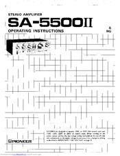 Pioneer SA-5500II Manuals