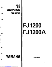 Yamaha 1992 FJ1200 Manuals